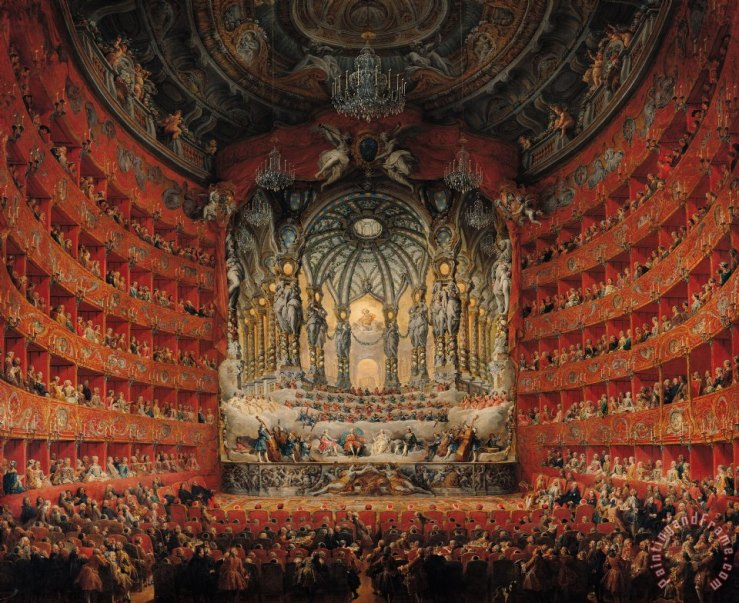 Concert Given By Cardinal De La Rochefoucauld At The Argentina Theatre In Rome - Giovanni Paolo Panini - 1747