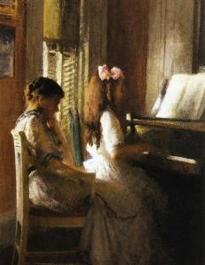 Joseph DeCamp - The Music Lesson - circa 1904